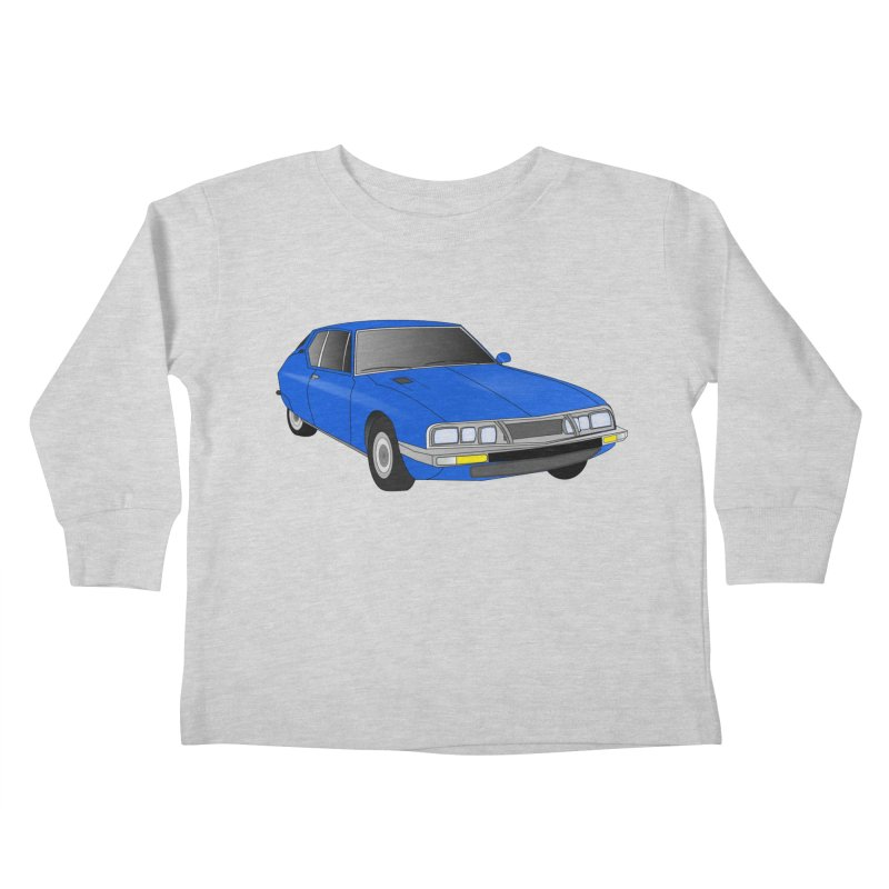 VOITURE-7 Kids Toddler Longsleeve T-Shirt by THE ORANGE ZEROMAX STREET COUTURE