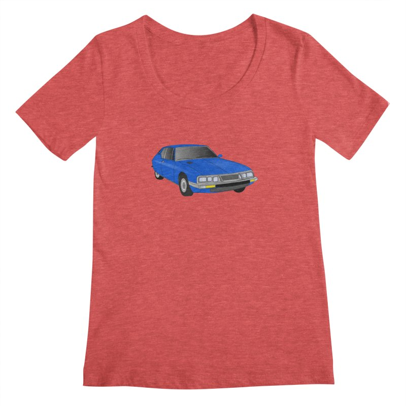 VOITURE-7 Women's Scoopneck by THE ORANGE ZEROMAX STREET COUTURE