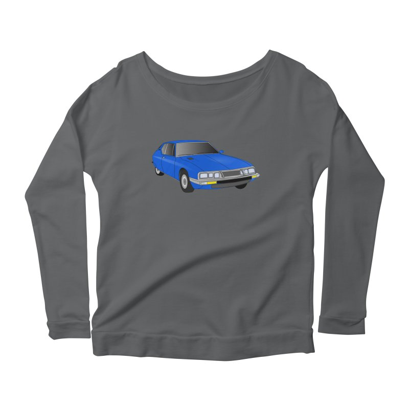 VOITURE-7 Women's Longsleeve Scoopneck  by THE ORANGE ZEROMAX STREET COUTURE