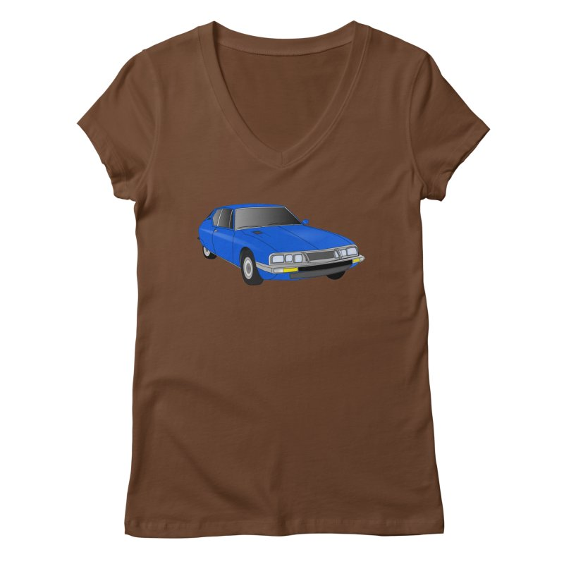 VOITURE-7 Women's V-Neck by THE ORANGE ZEROMAX STREET COUTURE