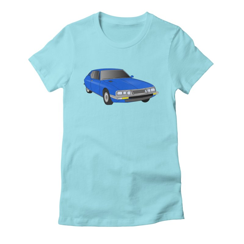 VOITURE-7 Women's Fitted T-Shirt by THE ORANGE ZEROMAX STREET COUTURE