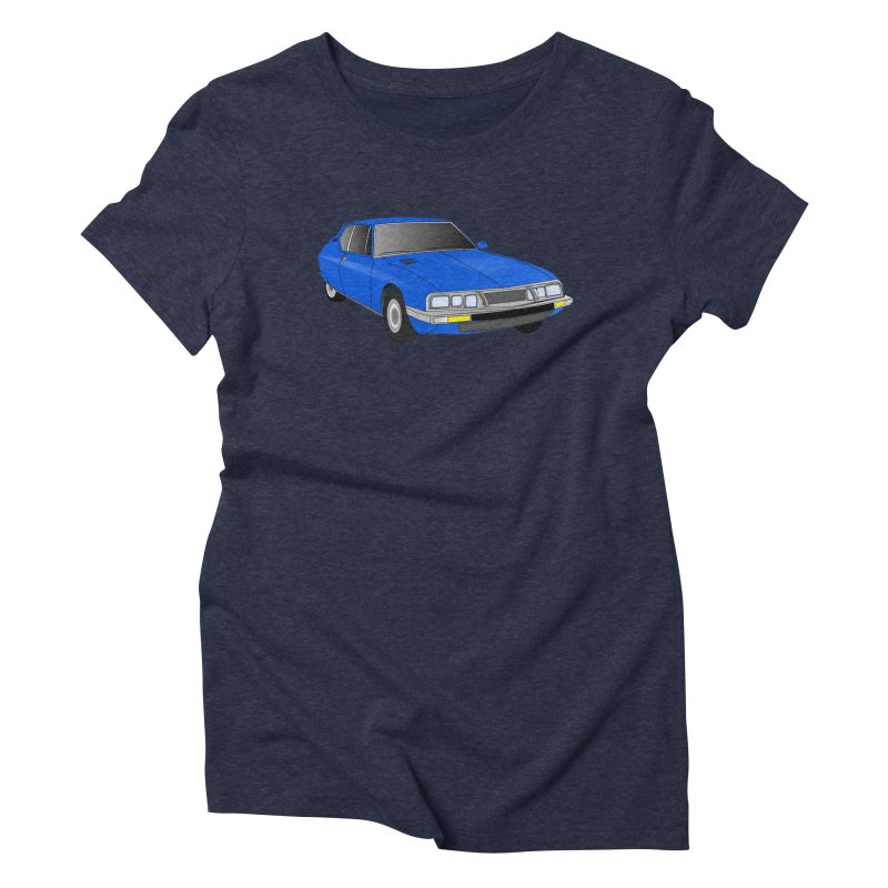 VOITURE-7 Women's Triblend T-shirt by THE ORANGE ZEROMAX STREET COUTURE