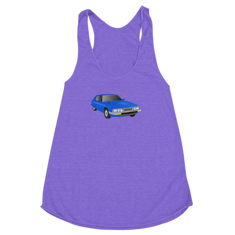 VOITURE-7 Women's Racerback Triblend Tank by THE ORANGE ZEROMAX STREET COUTURE