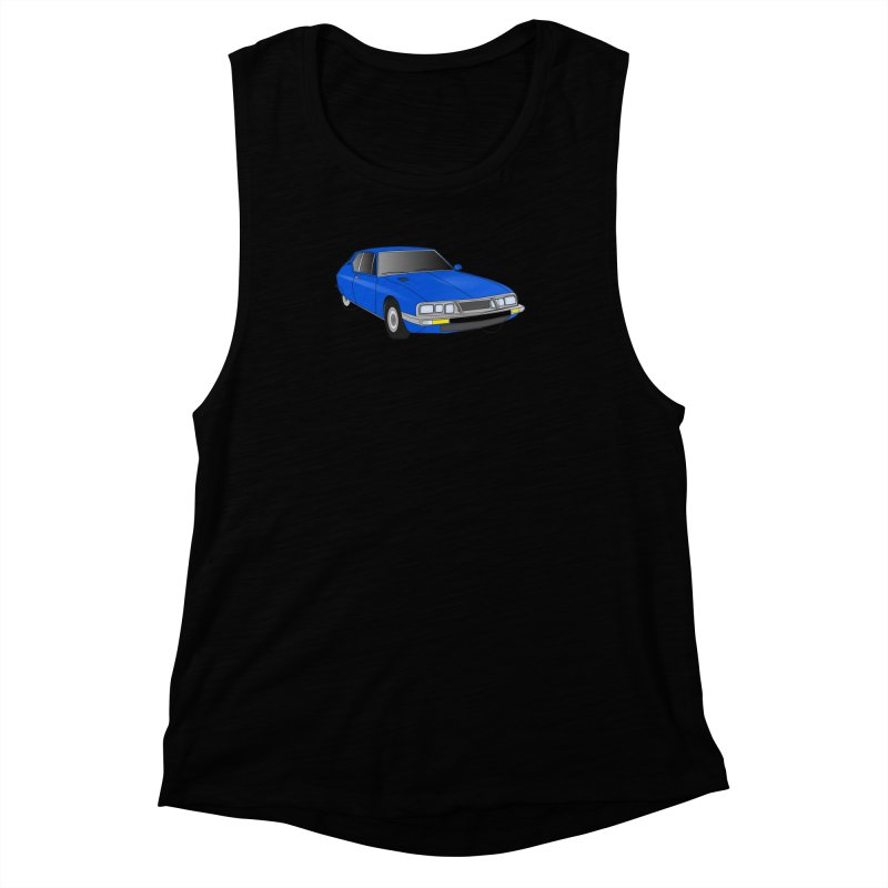 VOITURE-7 Women's Muscle Tank by THE ORANGE ZEROMAX STREET COUTURE