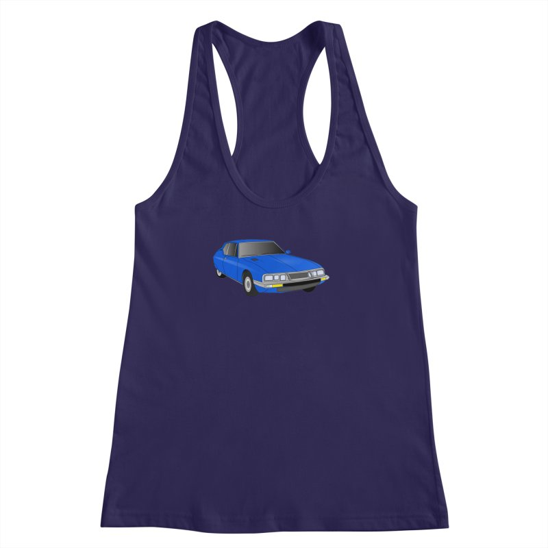 VOITURE-7 Women's Racerback Tank by THE ORANGE ZEROMAX STREET COUTURE