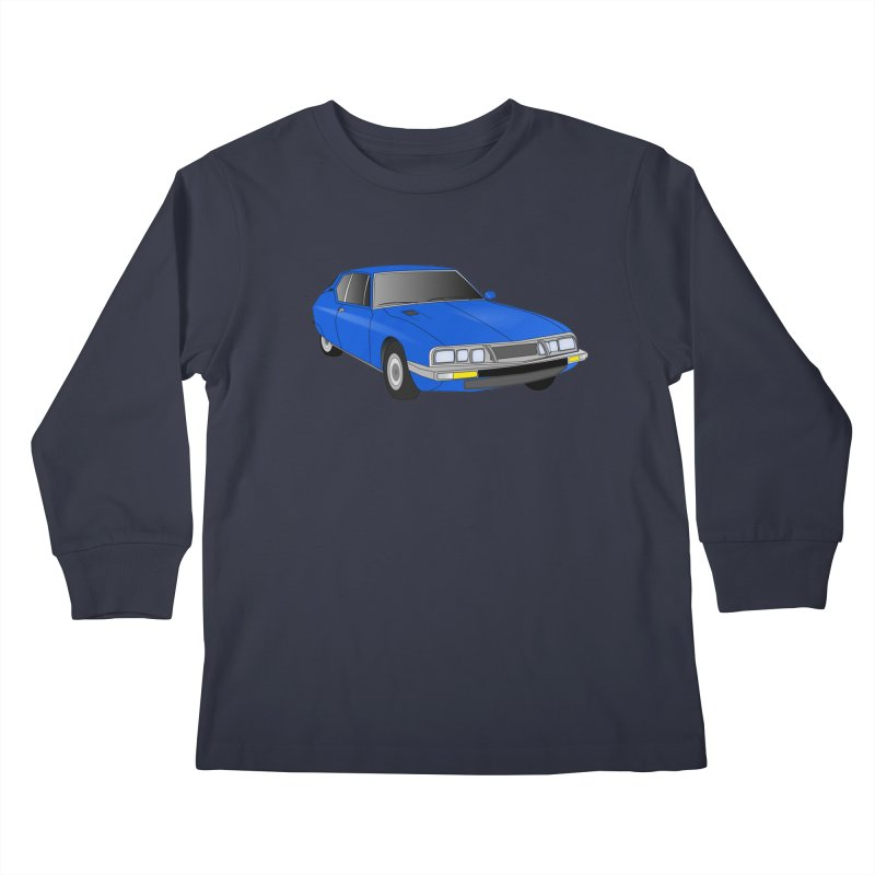 VOITURE-7 Kids Longsleeve T-Shirt by THE ORANGE ZEROMAX STREET COUTURE