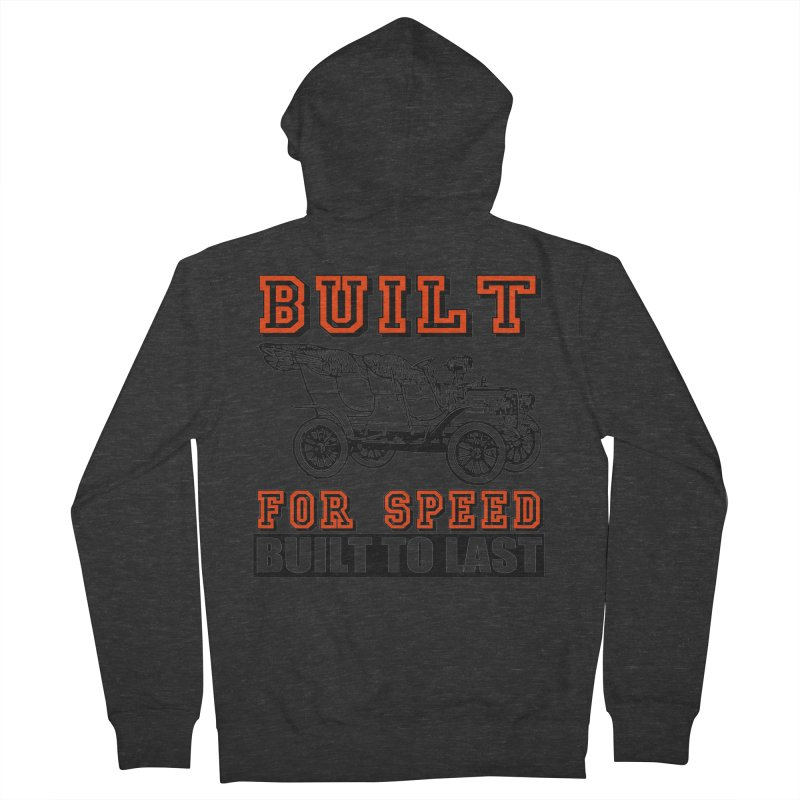 BUILT FOR SPEED-778 Men's French Terry Zip-Up Hoody by THE ORANGE ZEROMAX STREET COUTURE