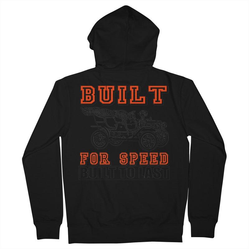 BUILT FOR SPEED-778 Men's Zip-Up Hoody by THE ORANGE ZEROMAX STREET COUTURE