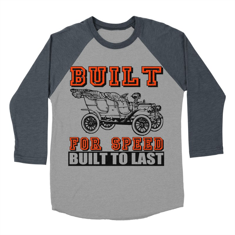 BUILT FOR SPEED-778 Men's Baseball Triblend T-Shirt by THE ORANGE ZEROMAX STREET COUTURE