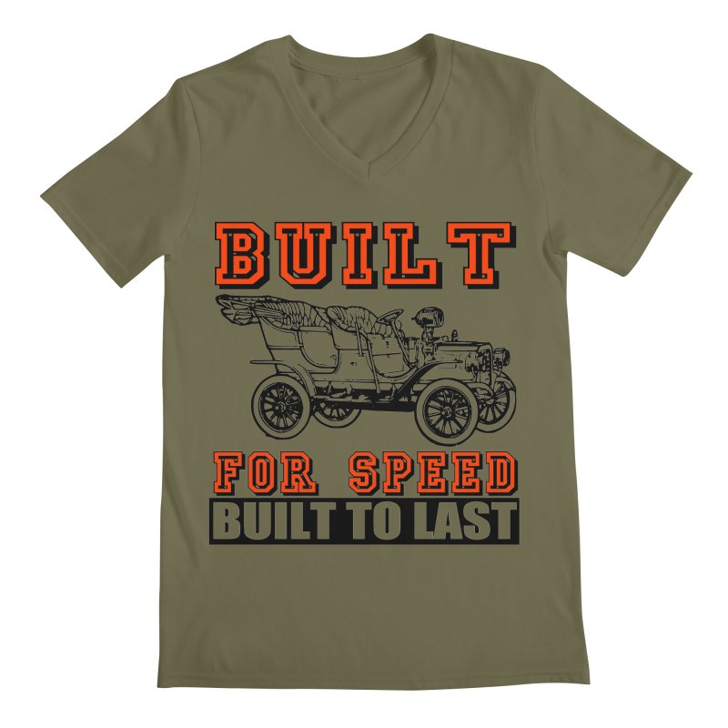 BUILT FOR SPEED-778 Men's V-Neck by THE ORANGE ZEROMAX STREET COUTURE