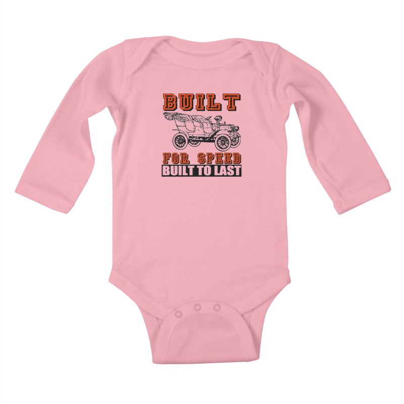 BUILT FOR SPEED-778 Kids Baby Longsleeve Bodysuit by THE ORANGE ZEROMAX STREET COUTURE
