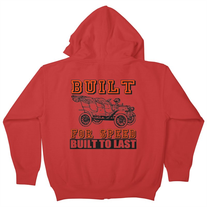 BUILT FOR SPEED-778 Kids Zip-Up Hoody by THE ORANGE ZEROMAX STREET COUTURE