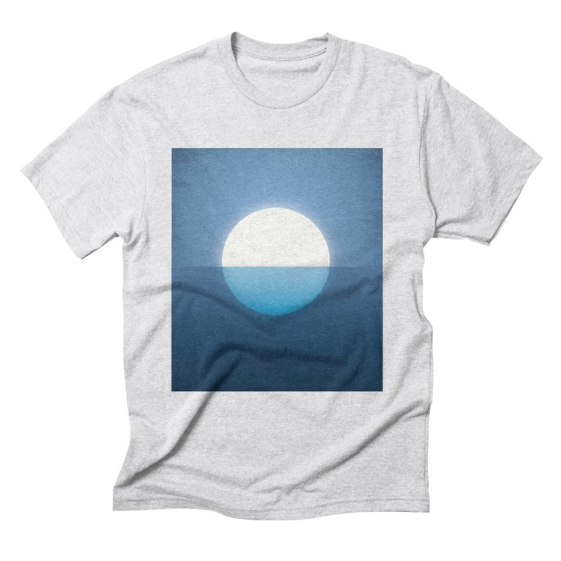 BLU-MOON Men's Triblend T-shirt by oranicole's Artist Shop