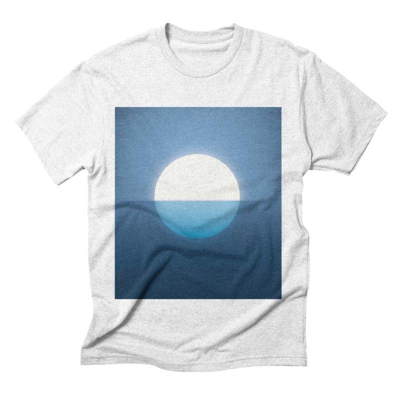 BLU-MOON Men's Triblend T-shirt by oranicole's Artist Shop