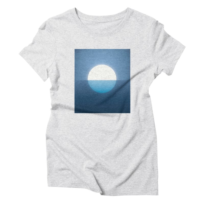 BLU-MOON Women's Triblend T-shirt by oranicole's Artist Shop