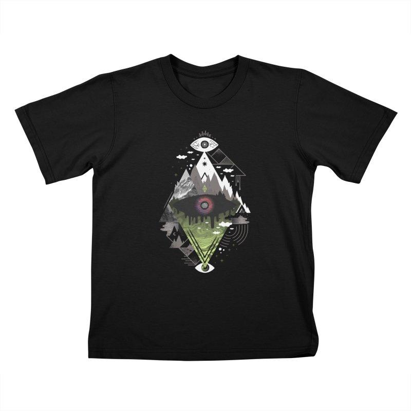 0v3r5ight_ Kids T-Shirt by ordinaryfox