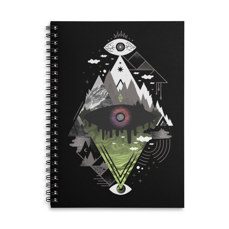 0v3r5ight_ Accessories Lined Spiral Notebook by