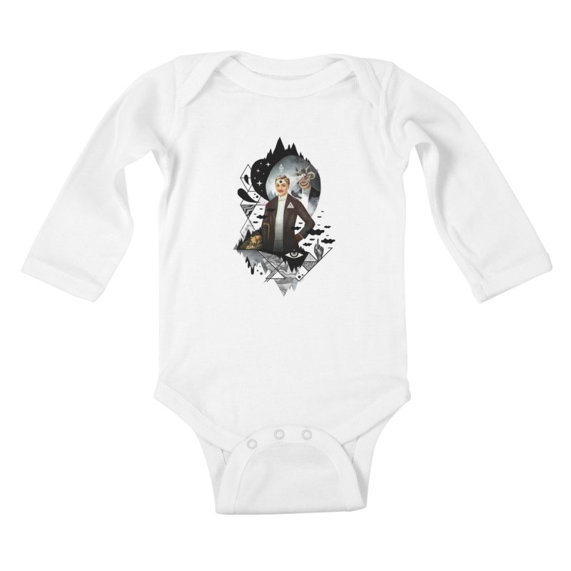 Piece of Mind Kids Baby Longsleeve Bodysuit by ordinary fox