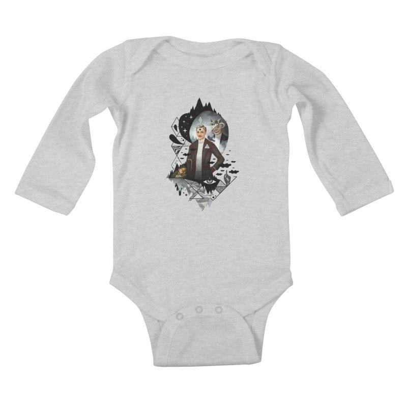 Piece of Mind Kids Baby Longsleeve Bodysuit by ordinary fox