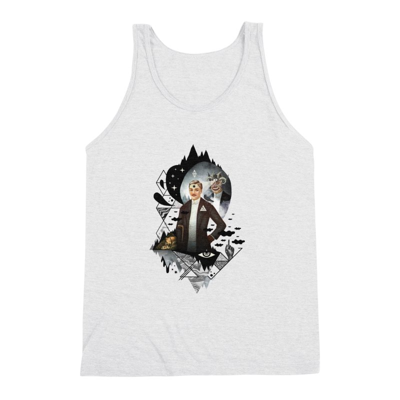 Piece of Mind Men's Triblend Tank by ordinary fox