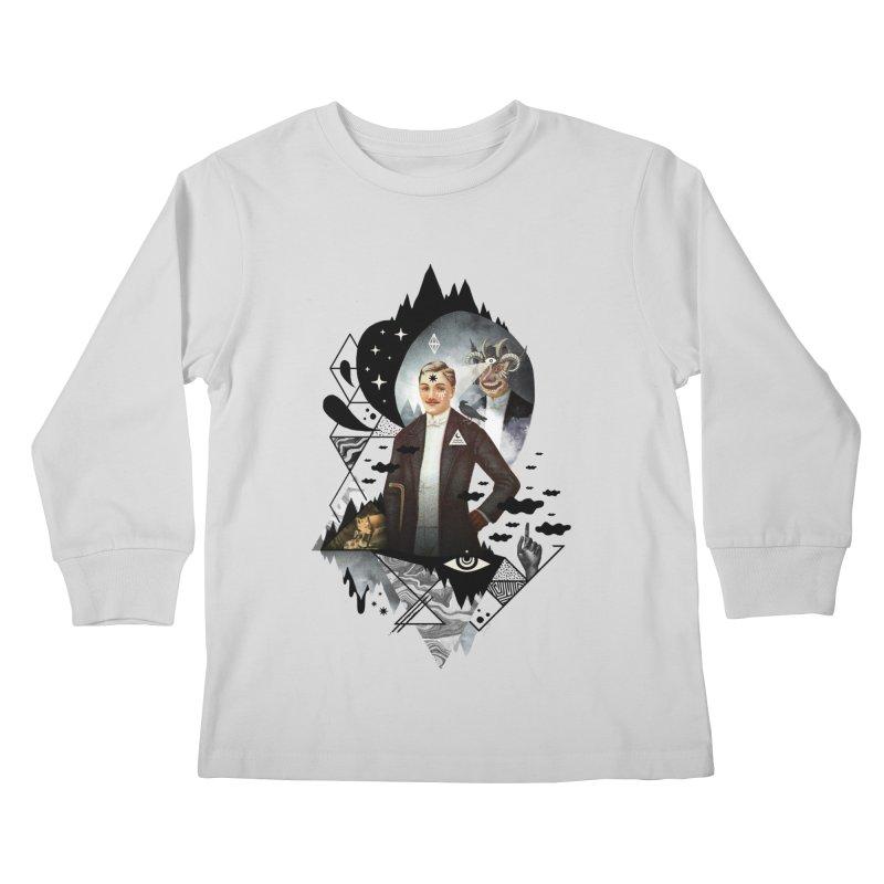 Piece of Mind Kids Longsleeve T-Shirt by ordinaryfox