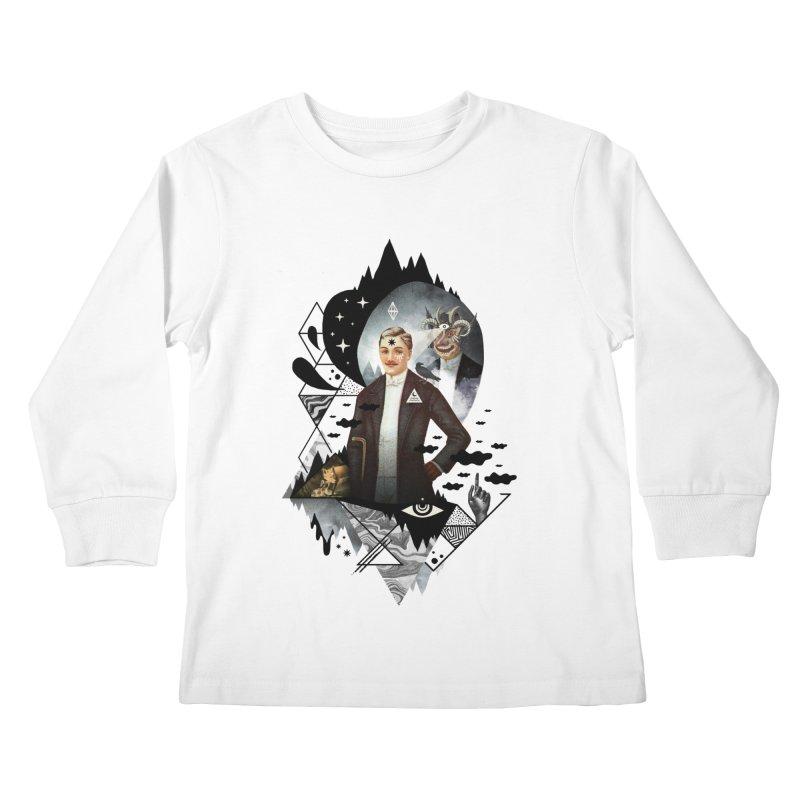 Piece of Mind Kids Longsleeve T-Shirt by ordinary fox