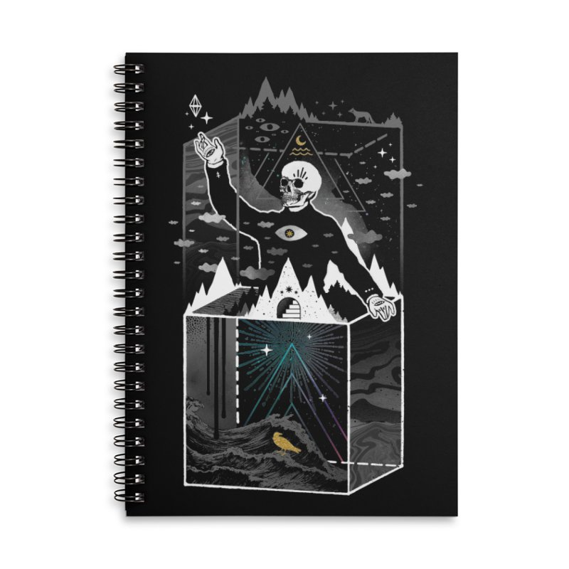 Existential Isolation Accessories Lined Spiral Notebook by ordinary fox