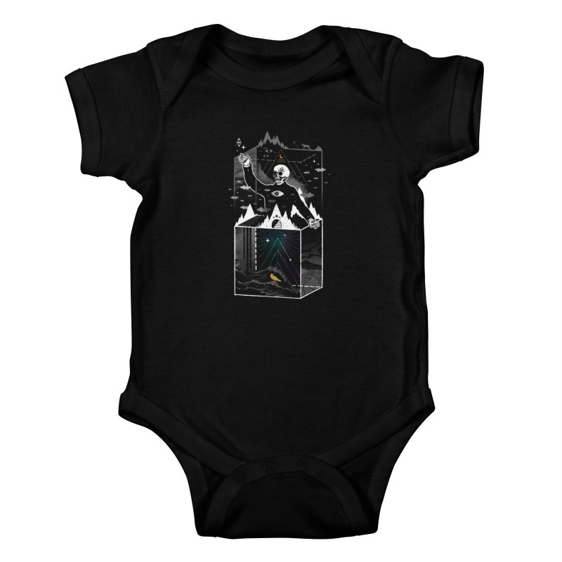 Existential Isolation Kids Baby Bodysuit by ordinary fox
