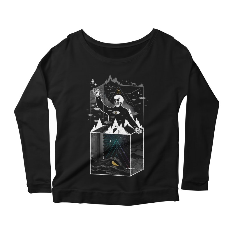 Existential Isolation Women's Scoop Neck Longsleeve T-Shirt by ordinary fox