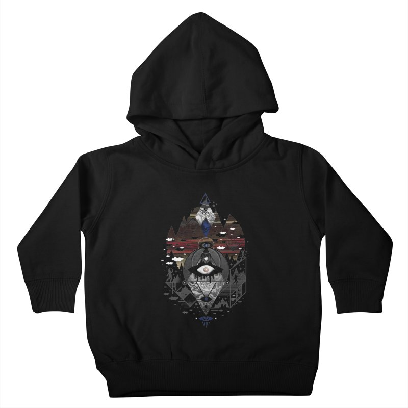 Oversighted Kids Toddler Pullover Hoody by ordinary fox