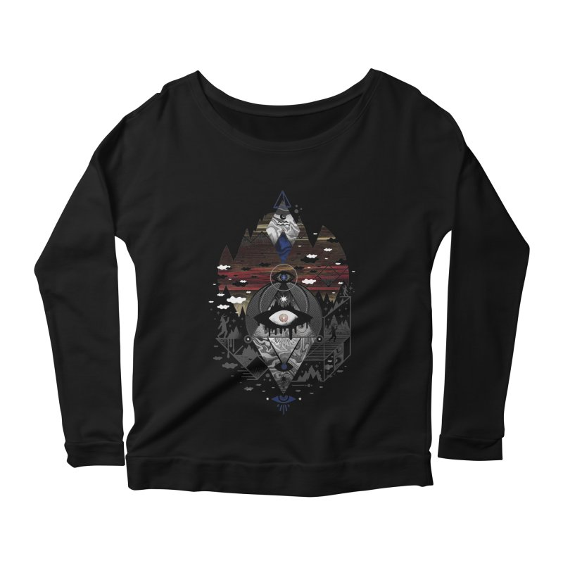 Oversighted Women's Scoop Neck Longsleeve T-Shirt by ordinary fox
