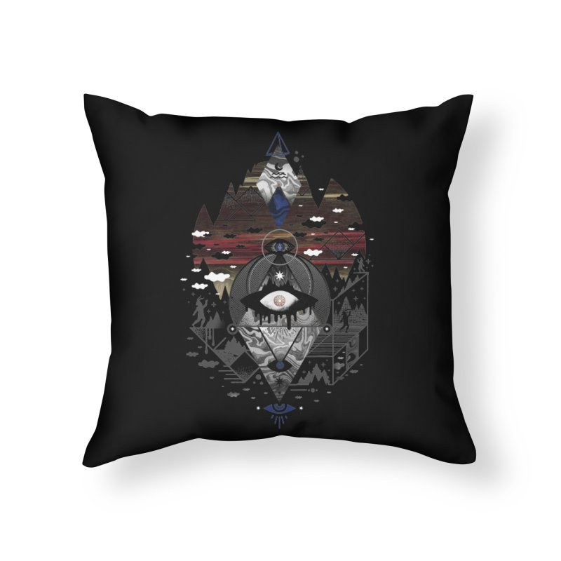 Oversighted Home Throw Pillow by ordinary fox