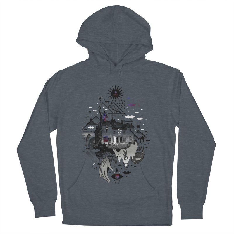 House is Not a Home Men's French Terry Pullover Hoody by ordinary fox