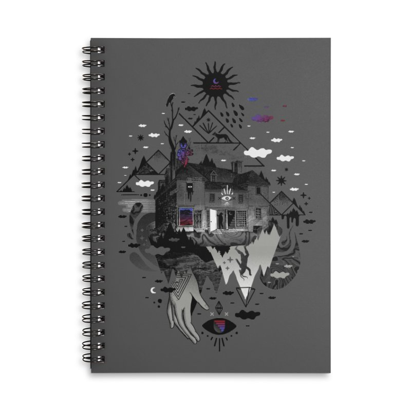 House is Not a Home Accessories Lined Spiral Notebook by ordinary fox
