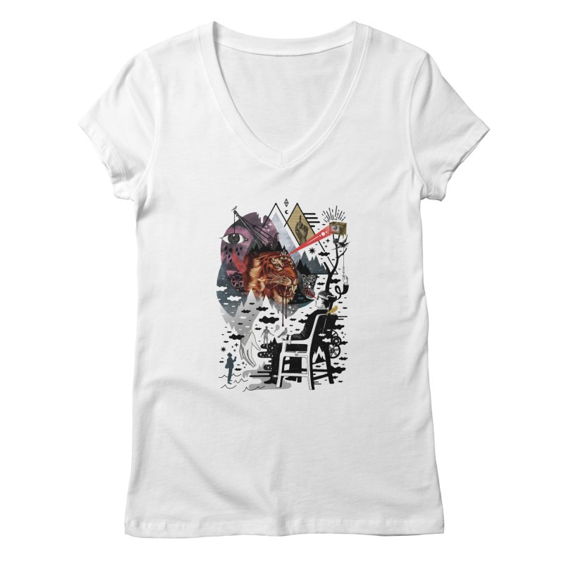 Hail Muse! Women's V-Neck by ordinaryfox