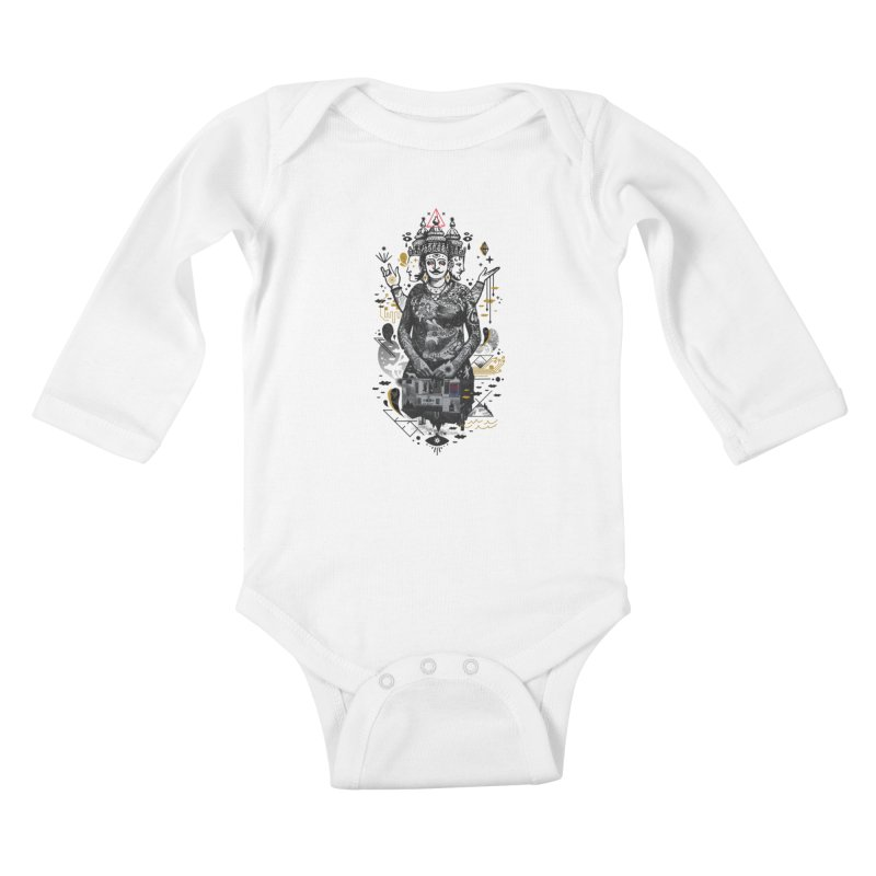 Dweller on the Threshold Kids Baby Longsleeve Bodysuit by
