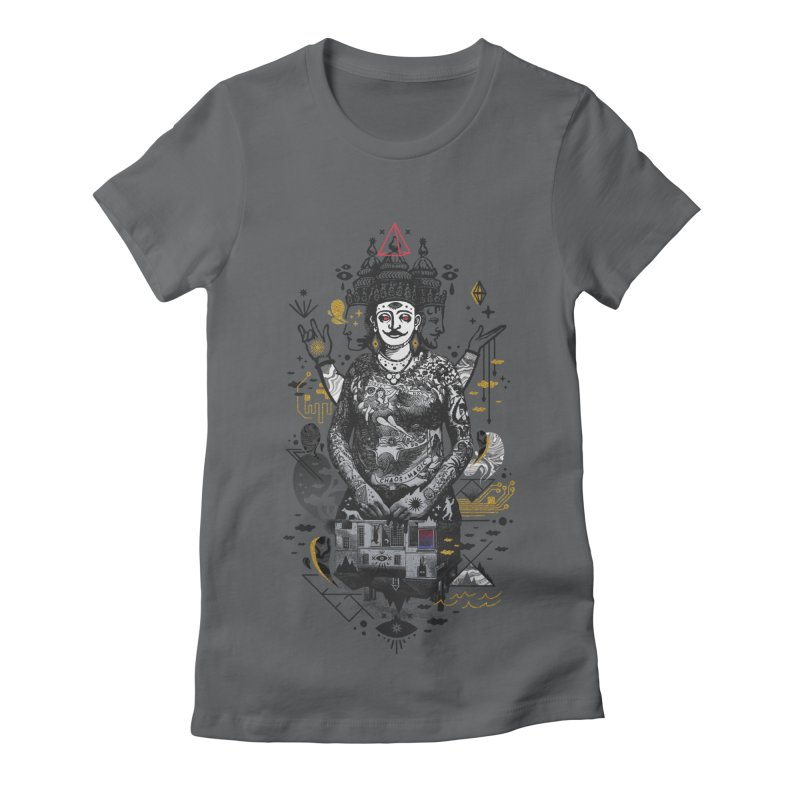 Dweller on the Threshold Women's Fitted T-Shirt by