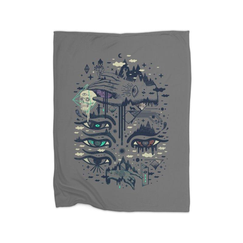 Ego Deaf Home Fleece Blanket Blanket by