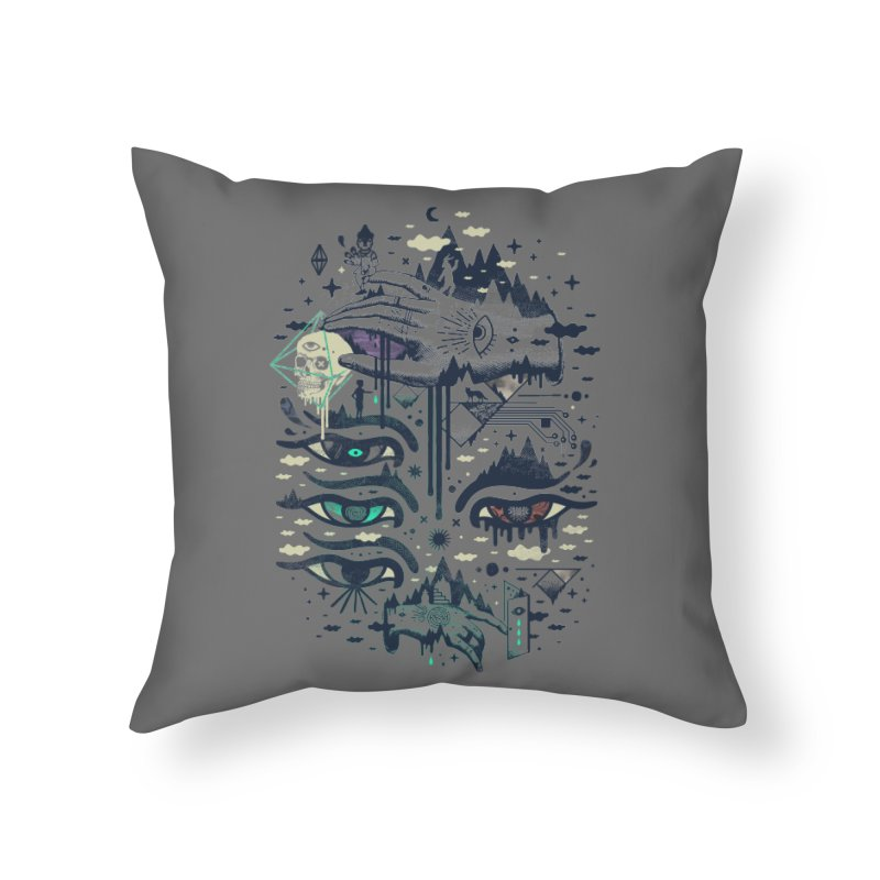 Ego Deaf Home Throw Pillow by