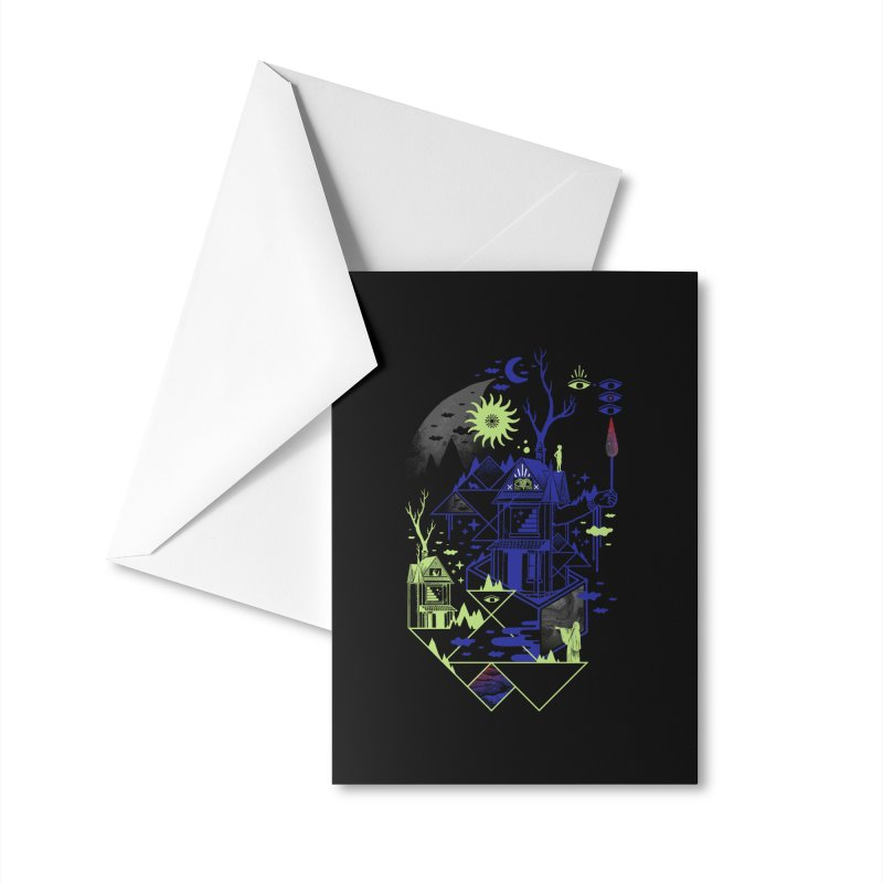 Neighbors Accessories Greeting Card by ordinaryfox