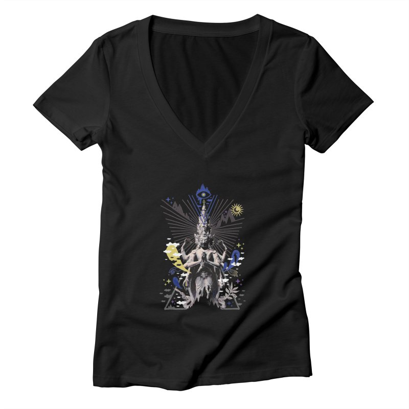 Divine Intervention Women's V-Neck by ordinaryfox