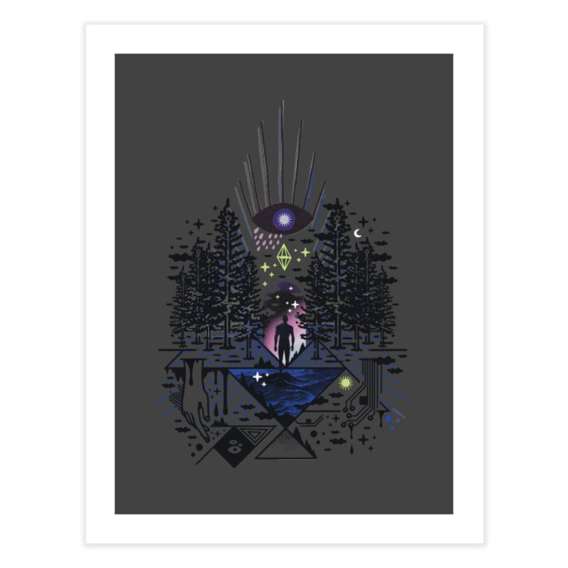 Magic Eye Home Fine Art Print by ordinaryfox