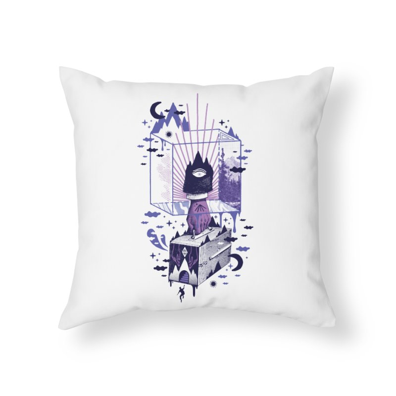 Nonsensical Home Throw Pillow by ordinaryfox