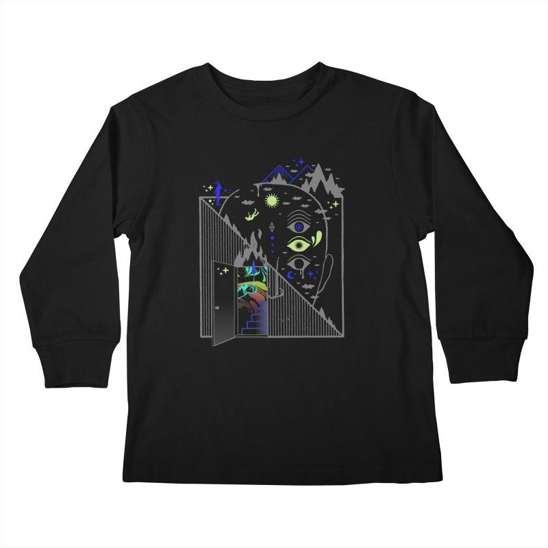 Downcast Kids Longsleeve T-Shirt by ordinaryfox