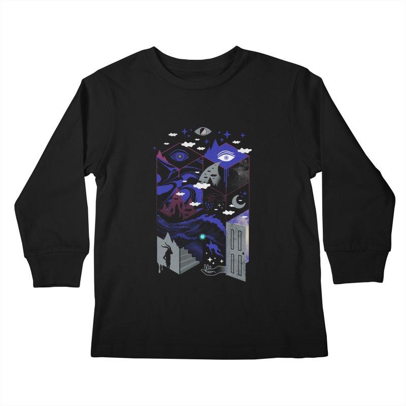 Spatial Awareness Kids Longsleeve T-Shirt by ordinaryfox
