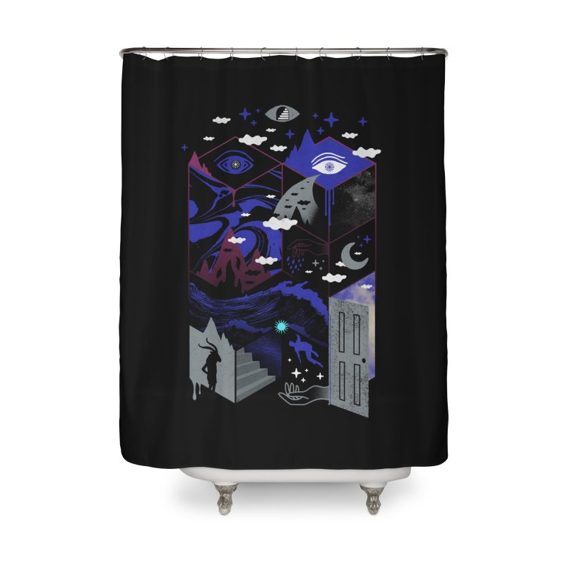 Spatial Awareness Home Shower Curtain by ordinaryfox