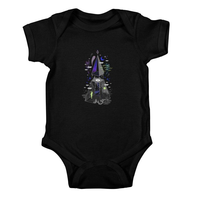 Pyramid Scheme Kids Baby Bodysuit by ordinaryfox