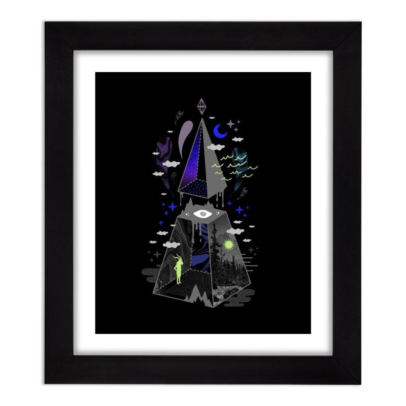 Pyramid Scheme Home Framed Fine Art Print by ordinaryfox