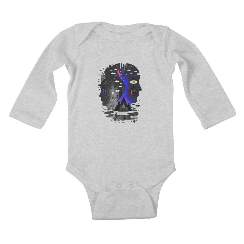 Hypomania Kids Baby Longsleeve Bodysuit by ordinaryfox