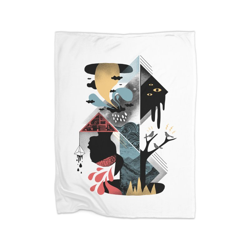 Shapes and Nightmares Home Fleece Blanket Blanket by ordinary fox